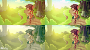 Forest Girl VECTOR VARIANTS