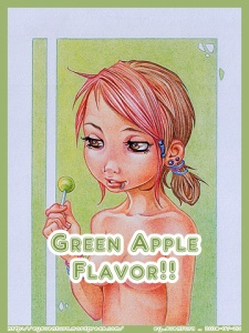 Green Apple Flavor PENCIL