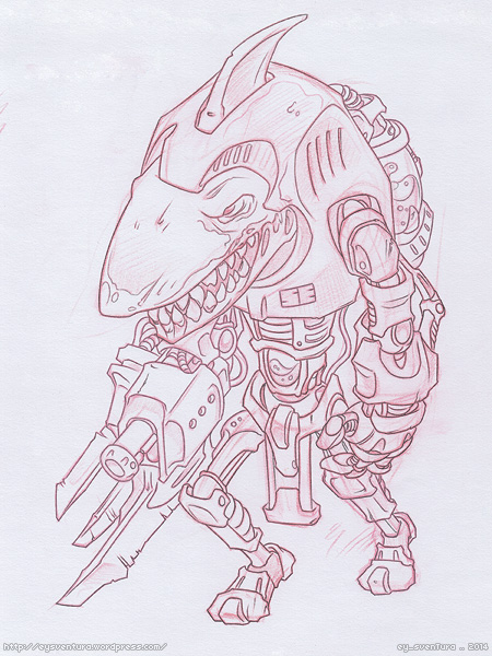 Shark Trooper SKETCH