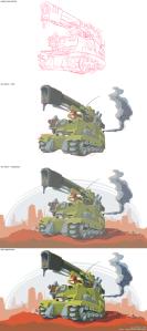Desert Tank VECTOR STEPS