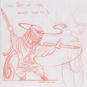 Artistic Monk Fu SKETCH