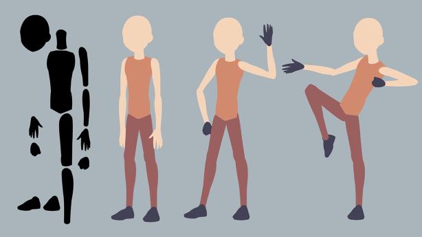 Cutout Character SVG