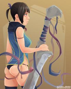 Blade Girl 4 VECTOR