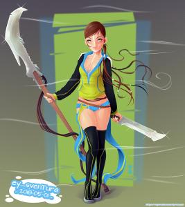 Blade Girl 5 VECTOR