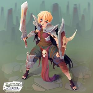 Blade Girl 6 VECTOR