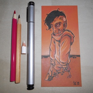 Zombie Boy INK+PENCIL