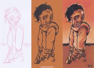 Zombie Boy INK+PENCIL